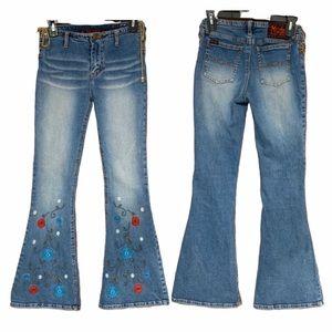 MUDD Yo Limbo Hip Hugger Bell Bottom Jeans, size 3